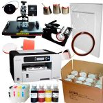 Combo 8in1 Heat press + Ricoh 3110 (loaded) + 36 pcs mugs + sublimation paper and tape