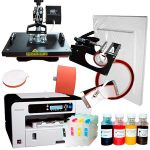 Heat press Combo 4in1 + Ricoh 3110 (loaded) + mugs + sublimation paper and tape