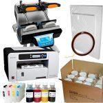 Mug press SB-S-2 + Ricoh 3110 (loaded) + 36 pcs mugs + sublimation paper and tape
