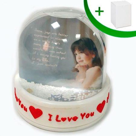 Преспапие - I LOVE YOU (сняг)